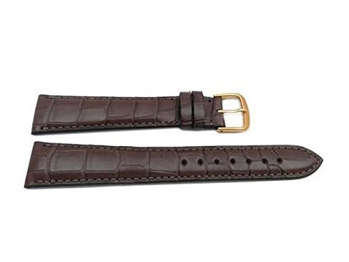 Genuine Leather Alligator Grain Chestnut Cartier Style Long Watch Strap Made in USA by Hadley Roma