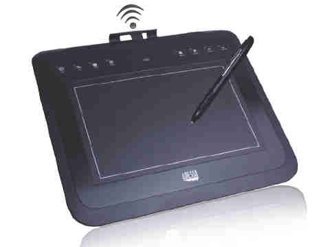ADESSO 2.4 GHZ WIRELESS 8X5 WIDESCREEN GRAPHIC TABLET, 4000 LPI, 8 HOT KEYS - CYBERTABLET W10