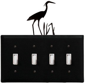 8.25 Inch Heron Quadruple Switch Cover