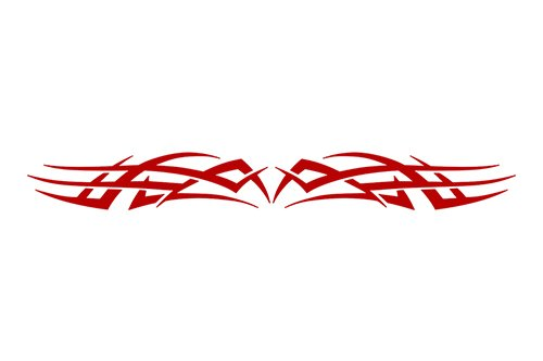 Scallop Banner (Sticky Creations - Design #102 Tribal Scallop Windshield Decal Sticker Vinyl Graphic Rear Back Window Banner Tailgate Car Truck Van SUV Boat Motorcycle Go Cart Trailer Wall | 36
