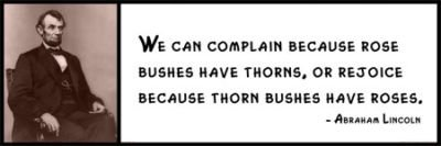 Amazoncom Wall Quote Abraham Lincoln We Can Complain Because