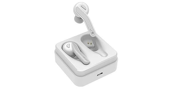 XuBa - Auriculares inalámbricos Bluetooth 5.0 con cancelación de Ruido, Auriculares HiFi con micrófono para teléfono Blanco Blanco: Amazon.es: Informática