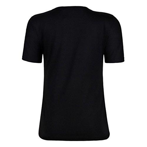 de SANFASHION SANFASHION Poliéster Bailarinas Damen Bekleidung Para Negro Shirt155 Mujer RURnrpBxqX