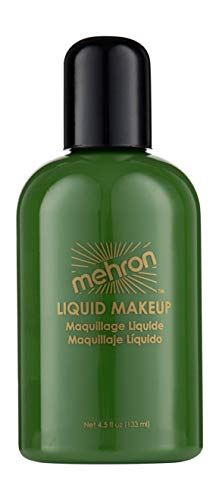 Mehron Makeup Liquid Face and Body Paint (4.5 oz) (GREEN) -