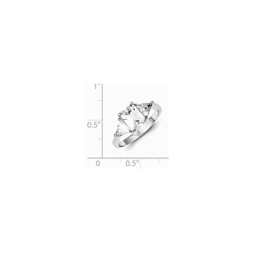 UPC 883957179551, Sterling Silver Synthetic CZ Ring