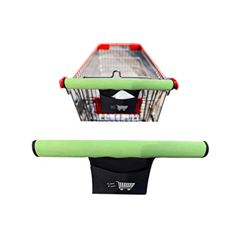Cart Care – Protect from Germs! Shopping Cart Handle Cover Grocery Cart Handle Cover, Trolley, Buggy, Supermercado Pocket for Phones, Coupons, Lists. 1 Piece, Foldable. Easy on Easy Off Velco