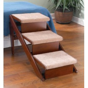Fold-Away Pet Steps and Ramp in One, STEP, THREE by Luxere Pet