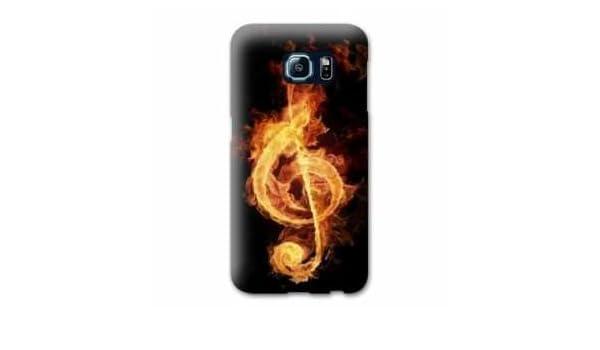 Amazon.com: Case Carcasa LG K4 Musique - - clé sol feu N ...
