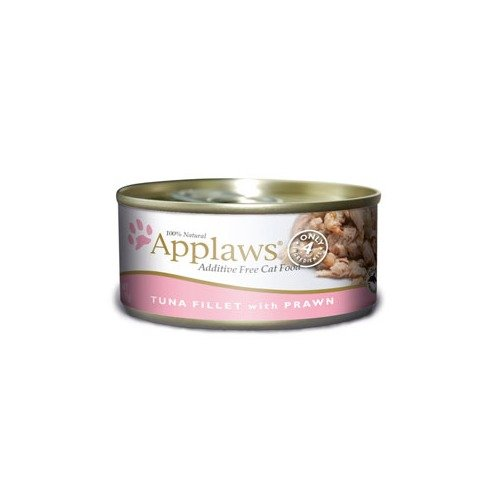 Picture of Applaws Tuna Fillet with Shrimp in Broth Canned Cat Food Topper