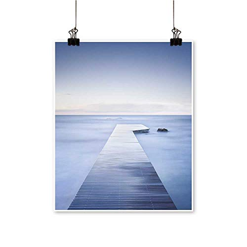 for Home Decoration Wooden pier or Jetty Rocks Calm sea Long Exposure for Home Decoration No Frame,28