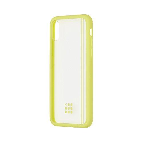 Moleskine Smartphone Case, Transparent Elastic Hard Case, iPhone X, Hay Yellow