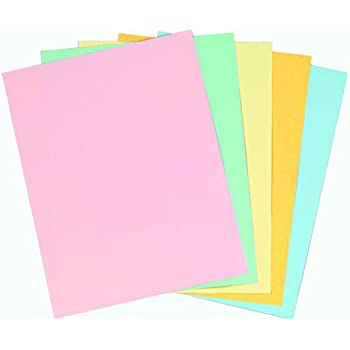 Amazon Staples Pastels Colored Copy Paper Assorted