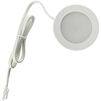 Commercial Electric 3 Light Led White Ac Puck Light Kit