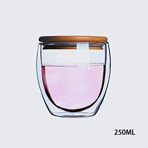 Fiesta Taza de Agua de Alta Temperatura Transparente con Forma de Huevo y Vidrio de Alta Temperatura Taza de Agua Cafã©...