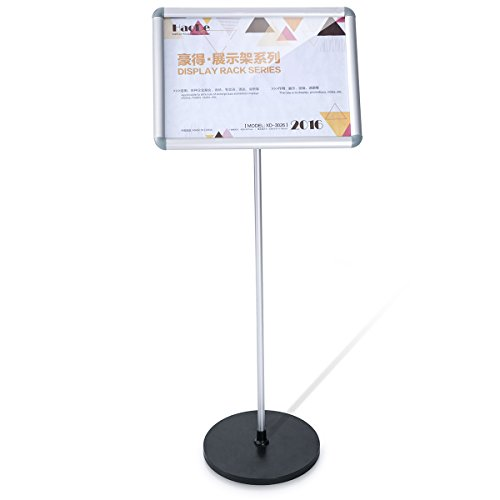 YD Advertising Bulletin Exhibition Road Sign Stand, Aluminum Display Stand ,Graphic Size 16.5×11.7Inches,HD-DS3026