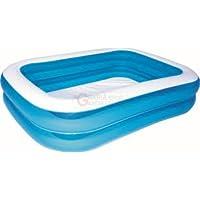 "Bestway 6'7"" x 59"" x 20""/2.01m x 1.50m x 51cm Blue Rectangular Family Pool"