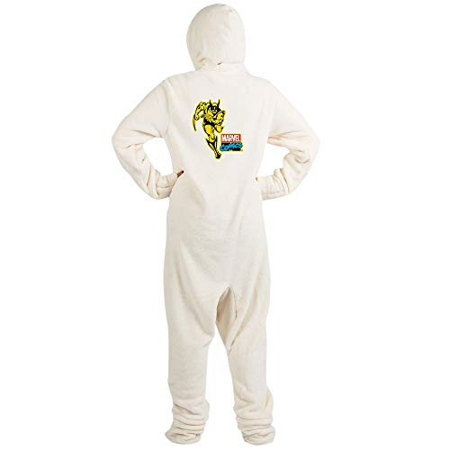 CafePress Yellow Wolverine Novelty Footed Pajamas, Funny Adult One-Piece PJ Sleepwear