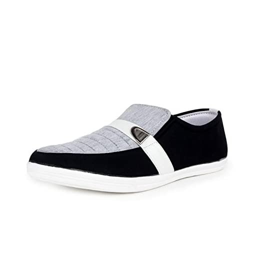 BEONZA Ultralight Mens Slip Ons Canvas Loafer