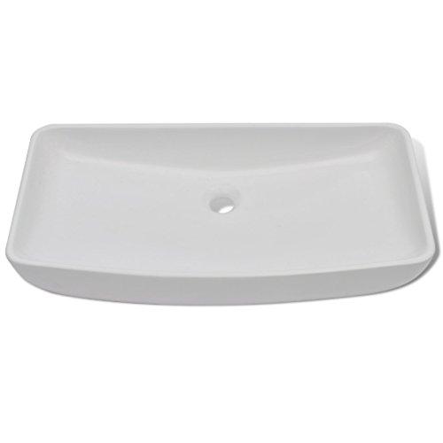 Daonanba Durable Stylish Luxury Premium Ceramic Basin Rectangular Sink White 28'' x 15'' by Daonanba (Image #3)