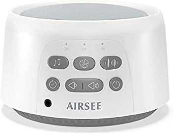 AIRSEE Portable Sound Machine with 24 Non-Looping Soothing Sounds