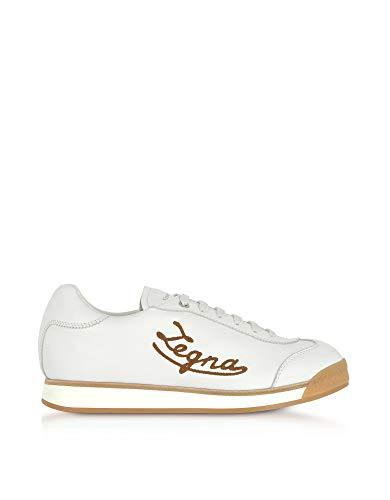 Ermenegildo Zegna Men's A4018xmoubia White Leather Sneakers