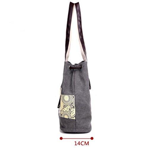 Tela Di Spalla Delle Donne Del Sacchetto Di Mano Tote Bag Grey