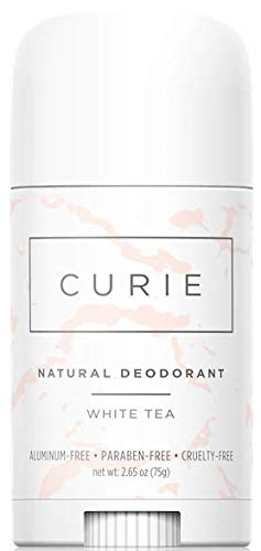Curie Aluminum-Free Paraben-Free Cruelty-Free Natural Deodorant, White Tea (Best Organic Deodorant For Women)