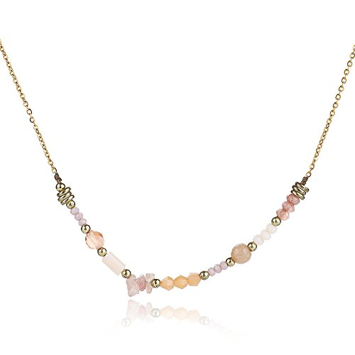 ngle Seim Gemstone Necklace for Women Gold-plating/Silvering Chian Choker Necklace Bridesmaid Gift/jewelry ()
