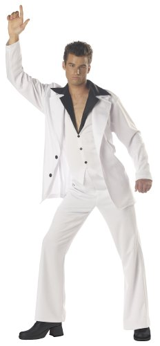 California Costumes Men's Saturday Night Fever Costume, White/Black, Large