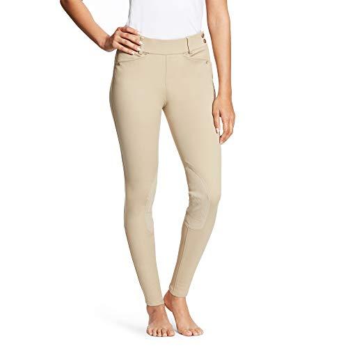 Ariat Breeches (ARIAT Women's Heritage Side Zip Knee Patch Breech Tan Size 28 Regular)
