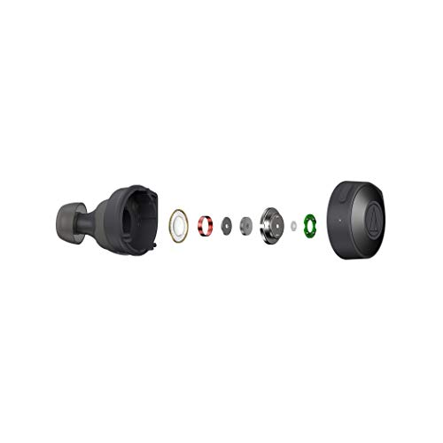 Audio-Technica ATH-CKS5TWBK Solid Bass Wireless in-Ear Headphones, Black