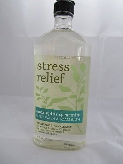 Bath Body Works Aromatherapy Stress Relief Eucalyptus Spearmint 10 oz Body Wash Foam Bath