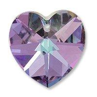 Swarovski Heart Pendant 6202 14mm Crystal Vitrail Light (Package of 1) ()