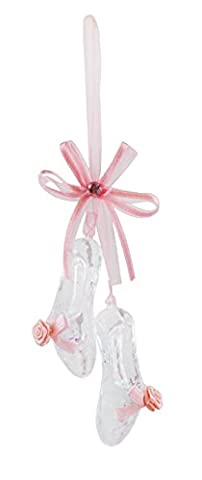 Rosy Pink Ballet Shoes Hanging Christmas Ornament - Santa Christmas Ornament Shoes