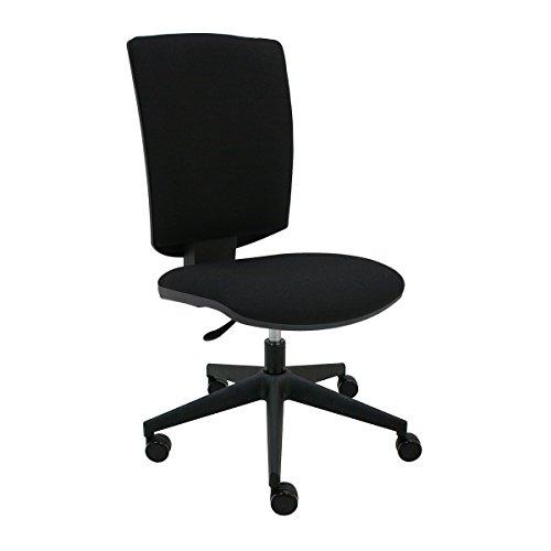 Silla oficina giratoria tapizada, respaldo y asiento ergonomicos con acolchado premium, ruedas para parquet, respaldo regulable en altura