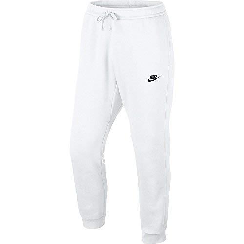 5b04acca833651 Galleon - Nike Sportswear Club Fleeced Men's Cuffed Jogger Pants White/Black  804408-100 (Size 2X)