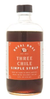 Royal Rose Three Chile Simple Syrup 8oz