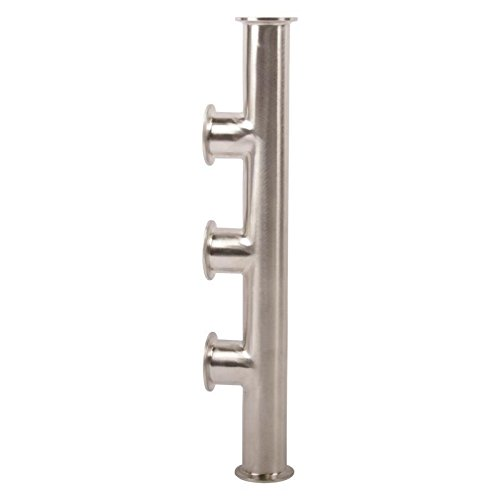 Manifold | Tri Clamp 1.5 inch x 3 Port - Stainless Steel SS304 / 3A - Glacier ()