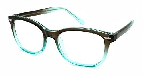 Rim Edge (Edge I-Wear Fashion Retro Horned Rim Reading Glasses for Women Readers for Men 1.25 540961TT/1.25-3(BN-BU))