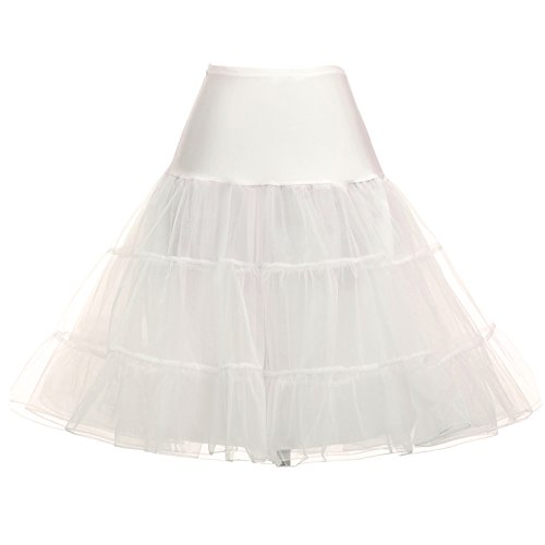 Ruffled Short Cancan Skirt for Wedding Dress (1X,Ivory) -