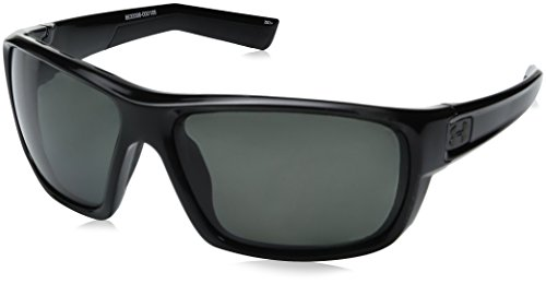 Under Armour UA Launch Polarized Round Sunglasses, UA Launch Storm (Ansi) Shiny Black / Black Frame / Gray Polarized Lens, 64 - Ansi Z87.1 Sunglasses