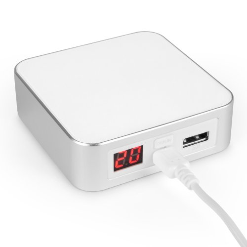 BoxWave Rejuva Power Pack Plus Nokia 7110 Power Bank - Compact, Portable 7800 mAh Rechargeable Li-ion Nokia 7110 Battery Charger, Recharge up to 3 Times with a Single Charge! (White)
