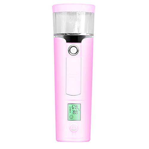 BeautySoul Mini Nano Facial Steamer, Handy Nano Sprayer with Skin Oil Moist Tester, Rechargeable Portable 40ml Cold Mist Moisture 30 Min Spa Humidifier Atomization Skin Care Hydrating for Skin Care