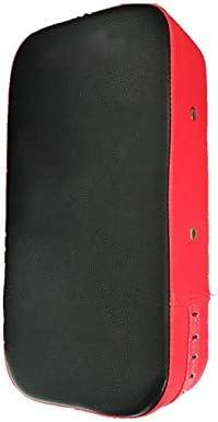 パンチングミット パンチボクシング空手の訓練のための長方形のキックパッドフットフォーカスターゲットパッドストライクシールド (色 : 赤, サイズ : 39*19*10cm)
