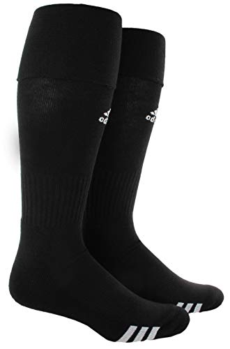 adidas Unisex Rivalry Soccer OTC Sock (2-Pair), Black/White, 5-8.5