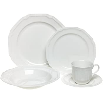 Mikasa Antique White 5-Piece Place Setting Service for 1  sc 1 st  Amazon.com & Amazon.com: Mikasa Antique White 40-Piece Dinnerware Set Service ...