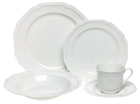 Mikasa Antique White 5-Piece Place Setting Service for 1  sc 1 st  Amazon.com : antique white dinnerware - pezcame.com