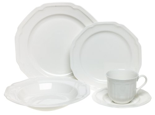 Mikasa Antique White 5-Piece Place Setting, Service for (Mikasa White Dish)