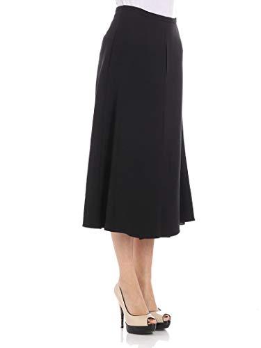 Rochas Noir Viscose Jupe Femme ROPM351501RM380200001 qUqFaR
