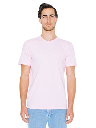 American Apparel  Unisex Fine Jersey Short Sleeve T-Shirt, Light Pink, Medium